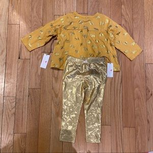 Toddler outfit with metallic detail